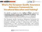 what is the european quality assurance reference framework for vocational education and training