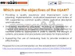 which are the objectives of the eqarf