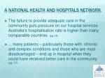 a national health and hospitals network