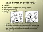zakaj humor pri pou evanju