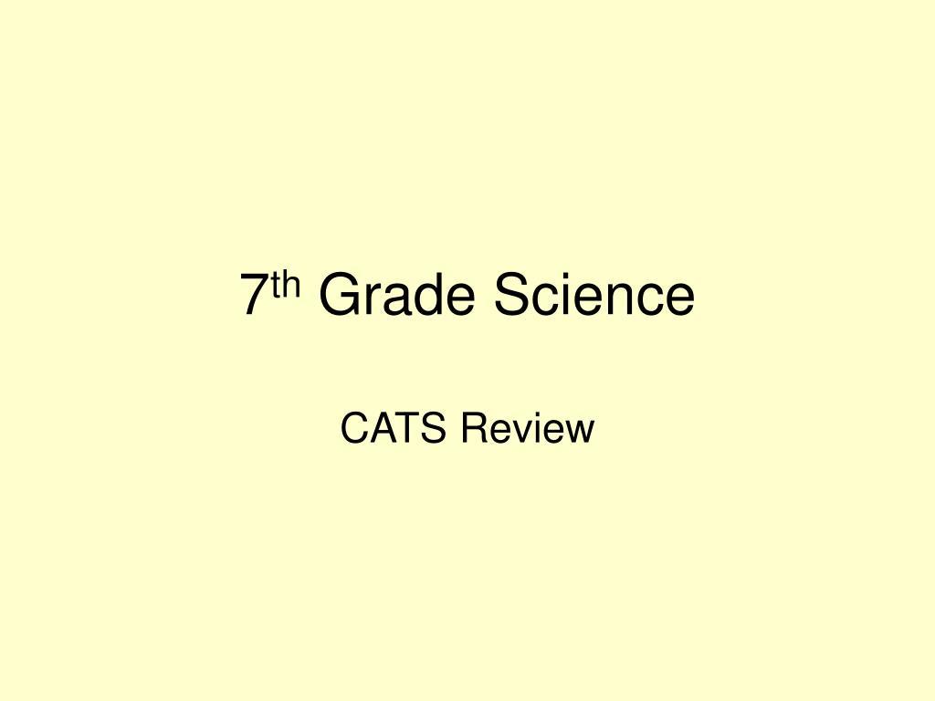 7 th grade science l.