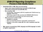 evm cr reporting compliance process data quality issues6