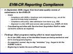 evm cr reporting compliance