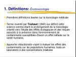 1 d finitions cotoxicologie