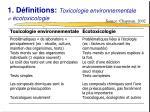 1 d finitions toxicologie environnementale cotoxicologie