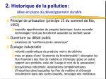 2 historique de la pollution mise en place du d veloppement durable