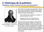 2 historique de la pollution relations entre l homme et son environnement