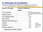 2 historique de la pollution tendance globale de l utilisation d nergie par sources