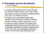 3 principales sources de pollution cas du charbon