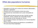 effets des populations humaines