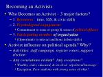 becoming an activists