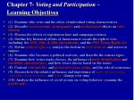 chapter 7 voting and participation learning objectives