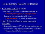 contemporary reasons for decline