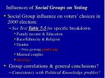influences of social groups on voting