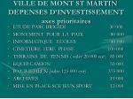 ville de mont st martin depenses d investissement axes prioritaires