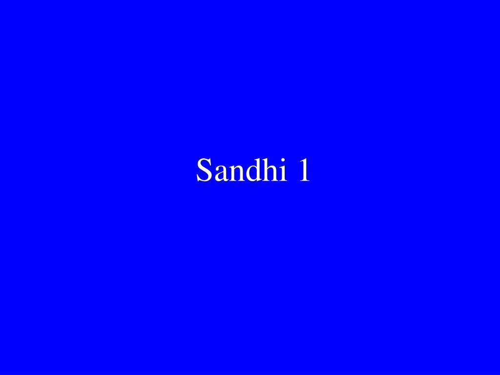 sandhi 1 l.