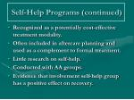 self help programs continued