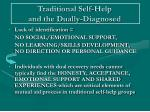 traditional self help and the dually diagnosed8