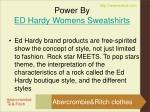 power by ed hardy womens sweatshirts