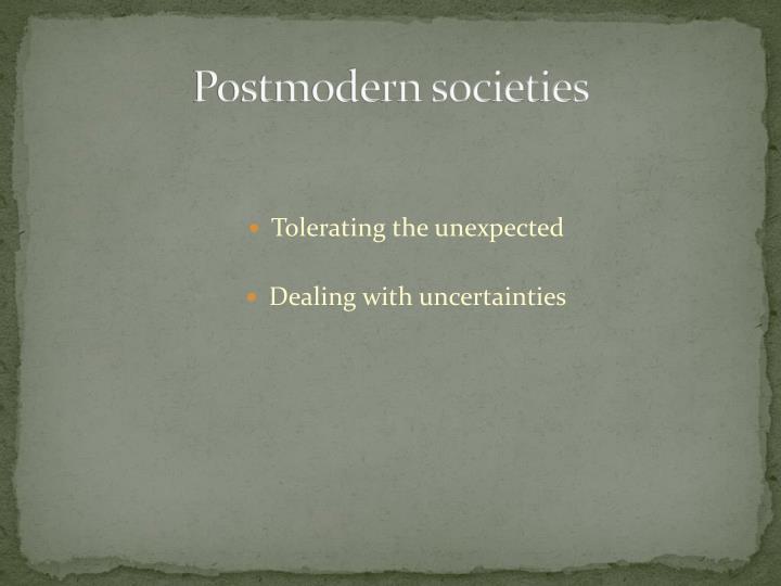 Postmodern societies