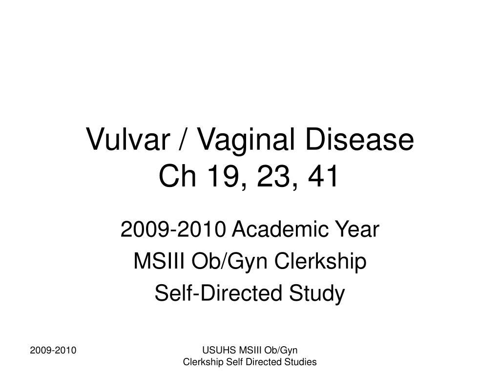 vulvar vaginal disease ch 19 23 41 l.