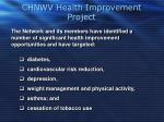 chnwv health improvement project