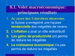 8 1 volet macro conomique principaux r sultats