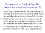components of subject specific communicative competence c 3