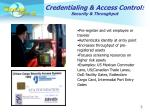 credentialing access control security throughput