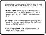 credit and charge cards