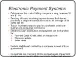 electronic payment systems4