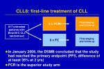 cll8 first line treatment of cll