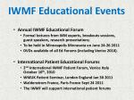 iwmf educational events