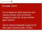 sociale norm