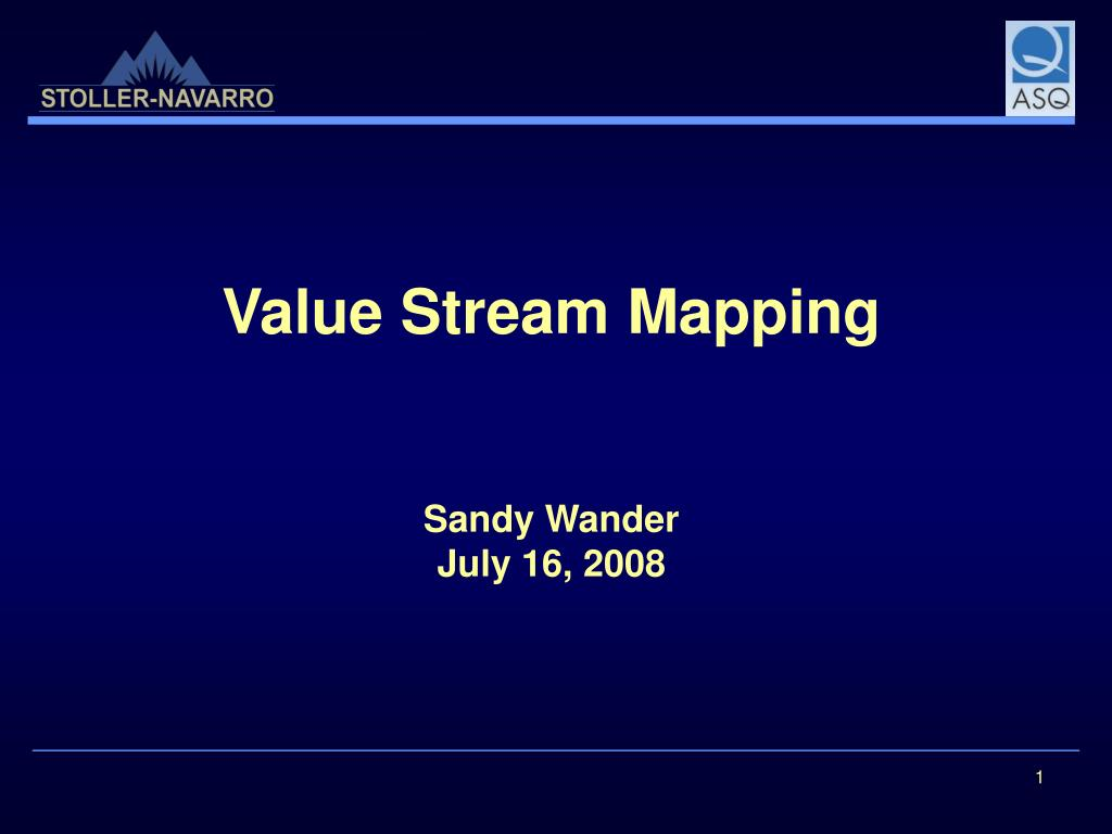 value stream mapping sandy wander july 16 2008 l.