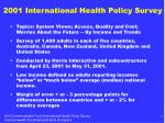 2001 international health policy survey