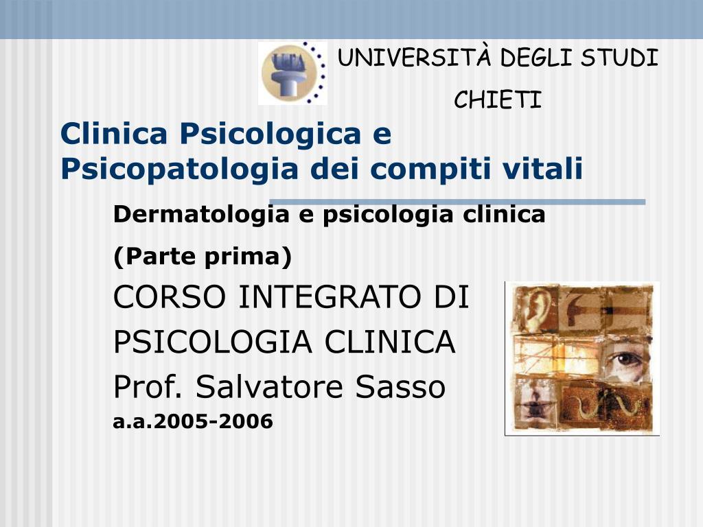 clinica psicologica e psicopatologia dei compiti vitali l.