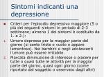 sintomi indicanti una depressione