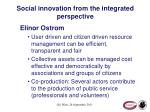social innovation from the integrated perspective