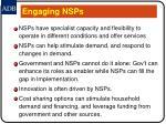 engaging nsps