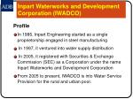 inpart waterworks and development corporation iwadco