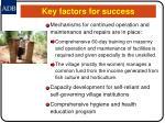 key factors for success23
