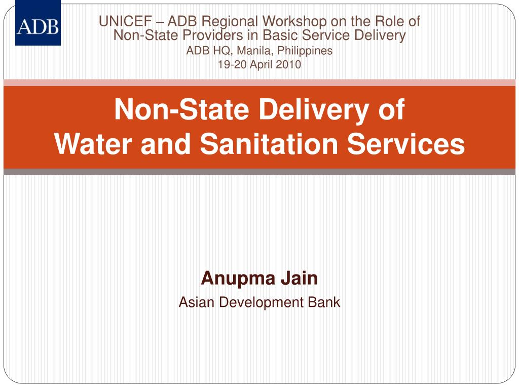 non state delivery of water and sanitation services l.