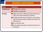 solution and actions10
