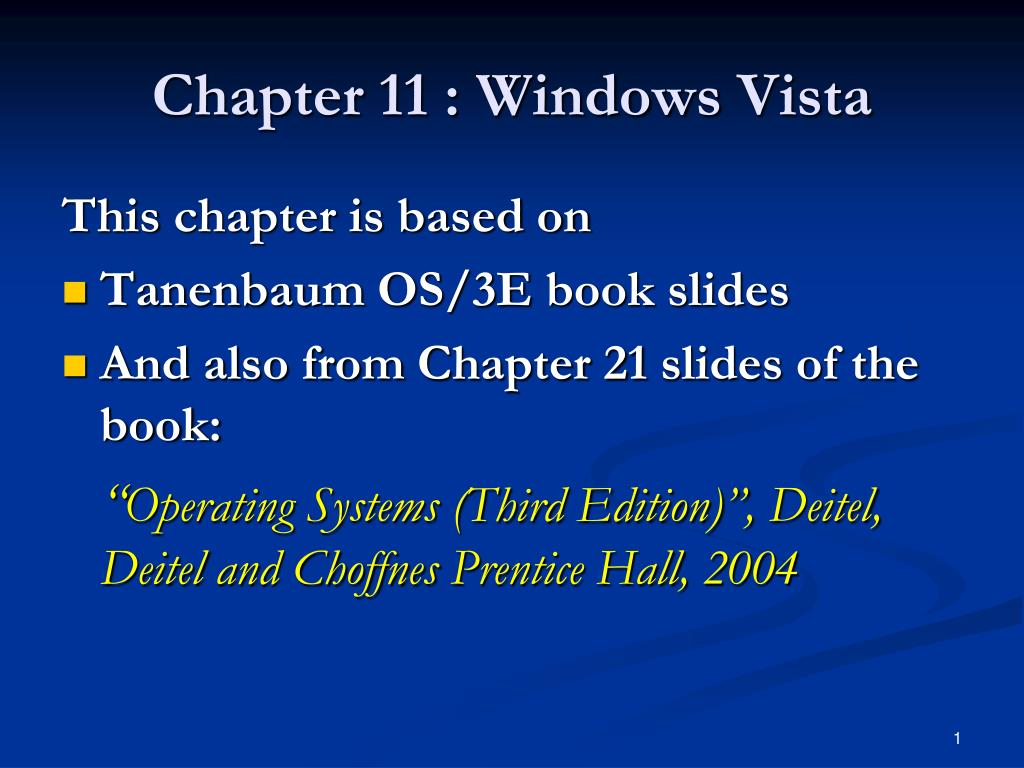 chapter 11 windows vista l.