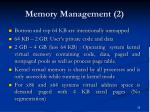 memory management 2