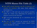 ntfs master file table 1