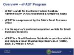 overview efast program