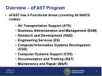 overview efast program7