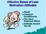 affective bases of low motivation attitudes